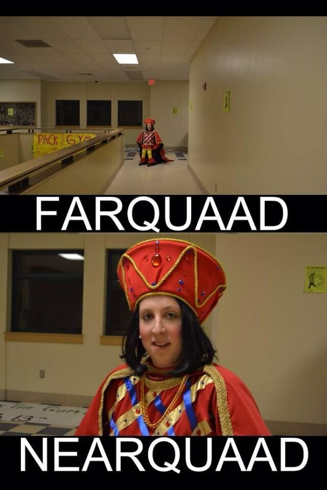 """My high school just did Shrek the Musical. The kid who played Lord Farquaad posted this to Facebook."""
