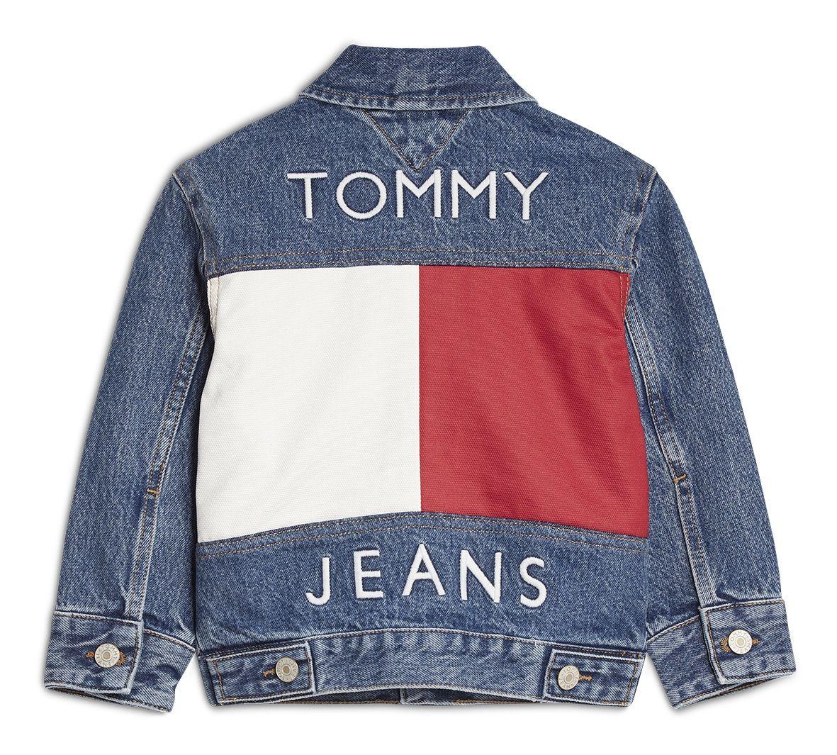 The Iconic Tommyjeans Jacket Now In Miniature Kids Denim Jacket Tommy Jeans Unisex Jacket [ 1065 x 1181 Pixel ]