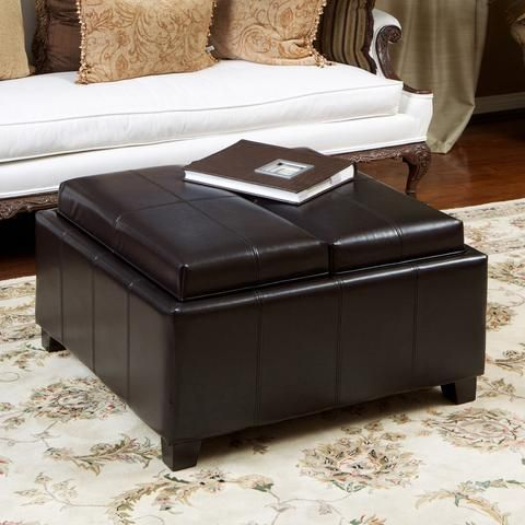 Astonishing Tucson Black Leather Storage Ottoman Coffee Table Ottoman Pabps2019 Chair Design Images Pabps2019Com