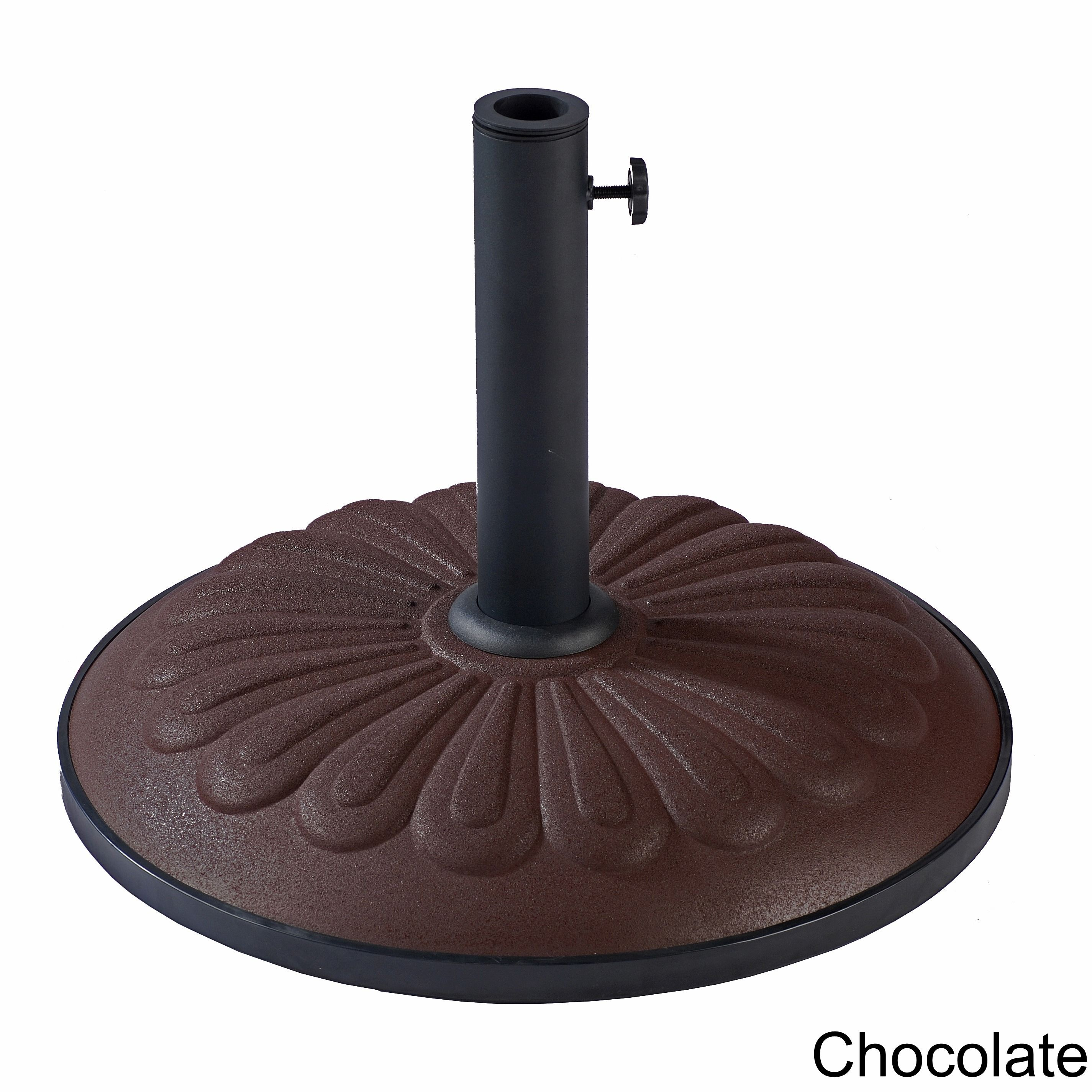 International Caravan Resin Sunflower Umbrella Base (Chocolate), Brown (Metal) #23900-AP25