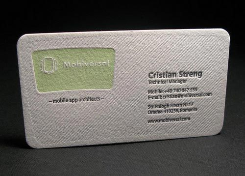 Beautiful  Cool Letterpress Business Card Design For