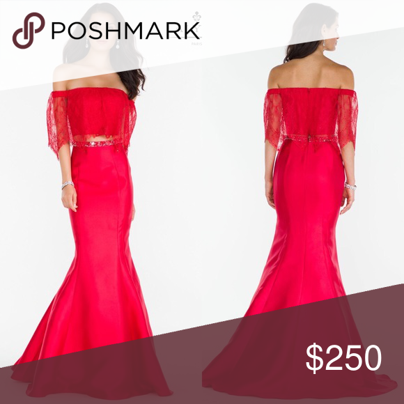 Red 2 piece mermaid Boutique | Paris dresses, Trumpets and Mermaid