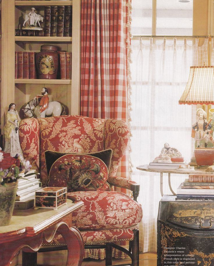 French Country Cottage Living Room: 247 Mulberry Lane: Red, White, & Beautiful