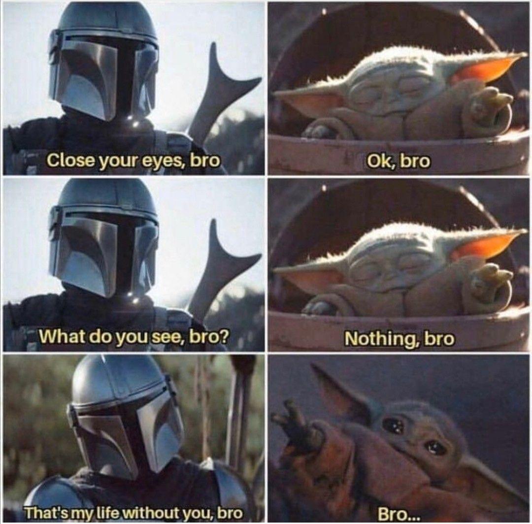 Pin By Ana Nass On Txt Funny Star Wars Memes Yoda Meme Star Wars Jokes
