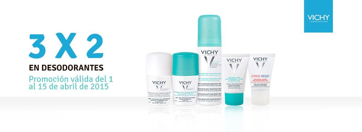 Hasta el 15 de Abril...  3x2 en todos los desodorantes VICHY. ¡Pruébalos!  Feliz semana, Farmacia Estación de Sants
