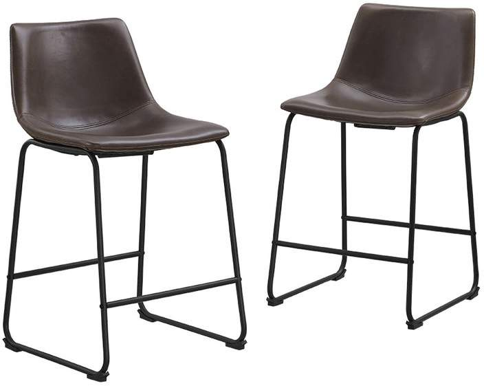 Latitude Run Mary Kate Bar Counter Stool Leather Counter