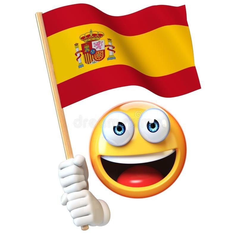 Emoji Que Sostiene La Bandera Española Emoticon Que Agita La Bandera Nacional De La Representación De España Banderas Españolas Banderas Imagenes De Banderas