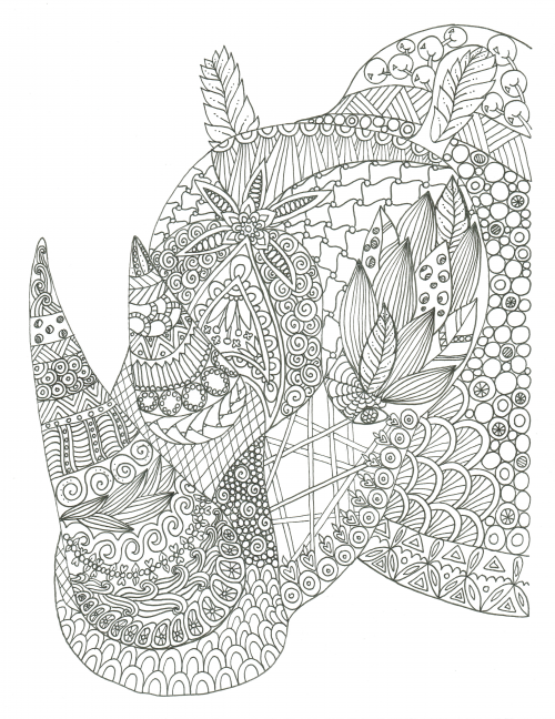 Free Wild Savannah Colouring Pages