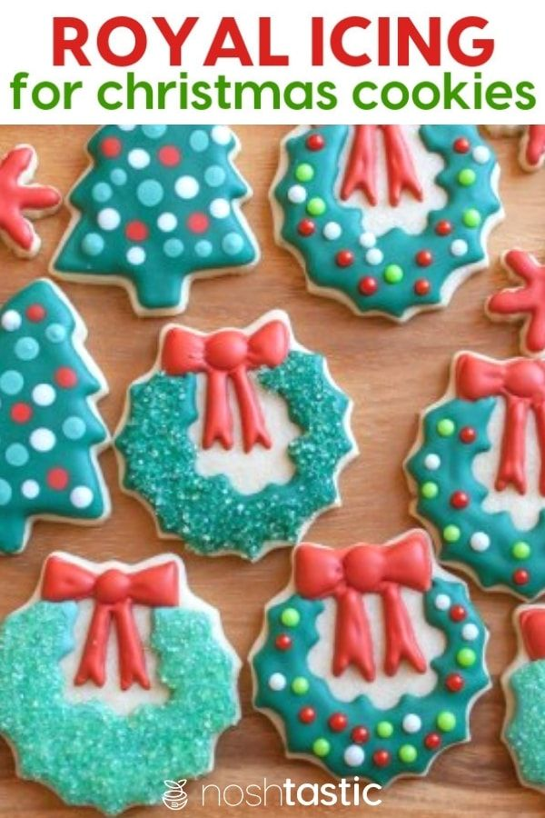 Easy Royal Icing Recipe for your Christmas Cookies! with step by step directions and tips, instructions for how to color your royal icing you'll be decorating your christmas cookies to perfection in no time! |  |