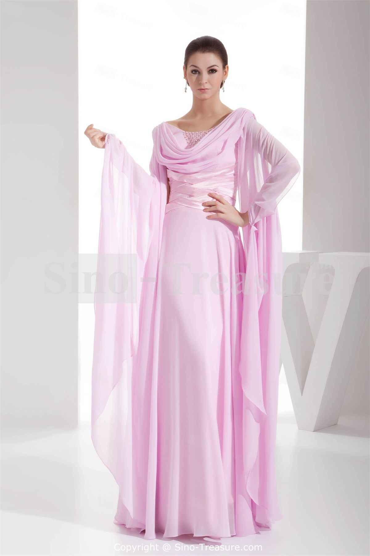 Images of Long Dresses With Sleeves - Klarosa