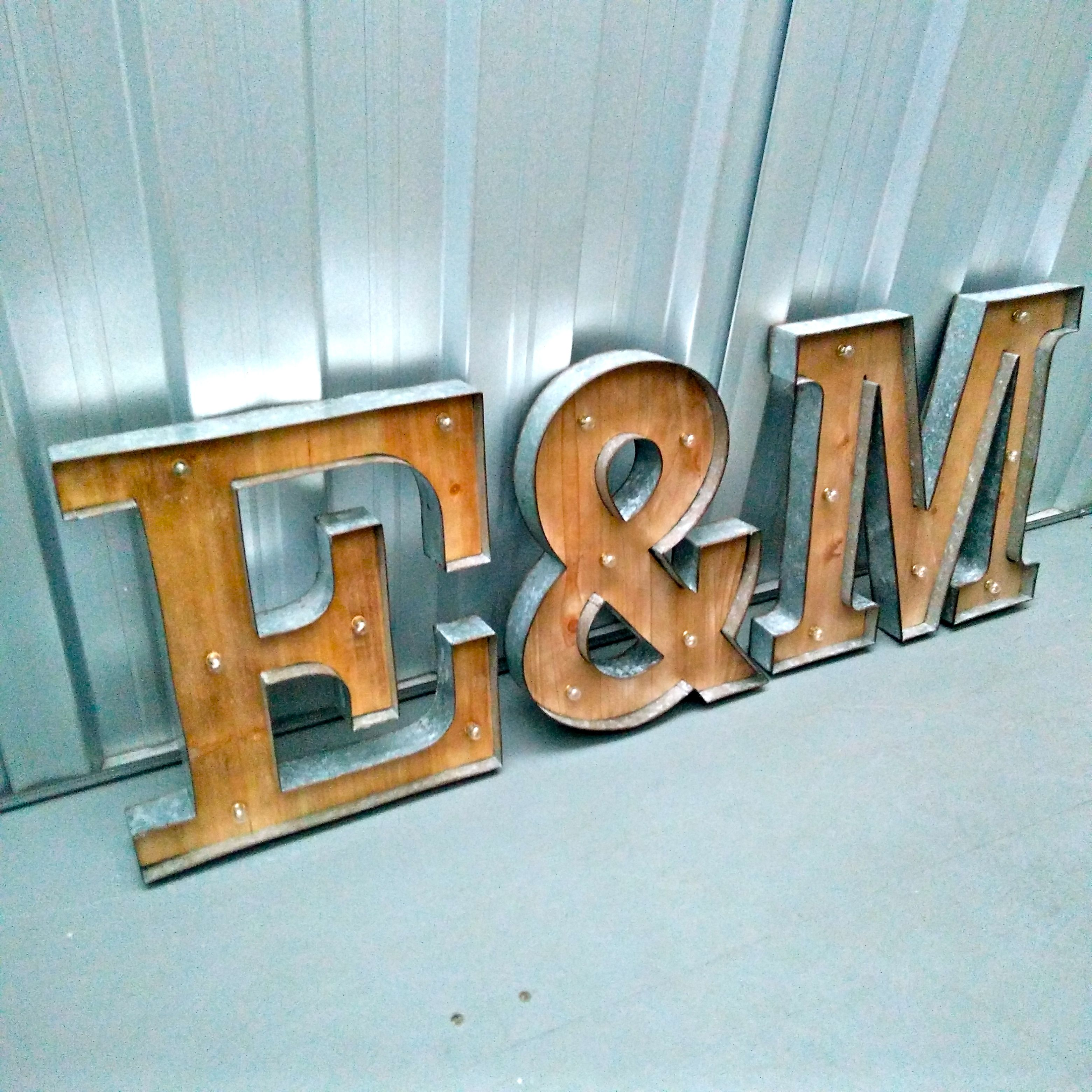 Glass Letters For Wall Love Inititals Showlove With Our Marquee Light Up Letters And