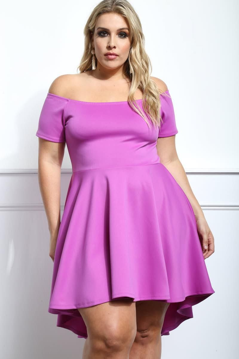 Look stylish for the evening with this classy plus size high-low ...
