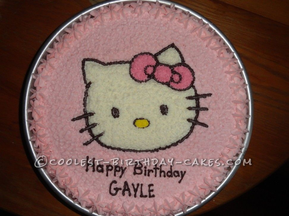 Coolest Hello Kitty Cake Hello kitty cake Kitty cake and Hello kitty