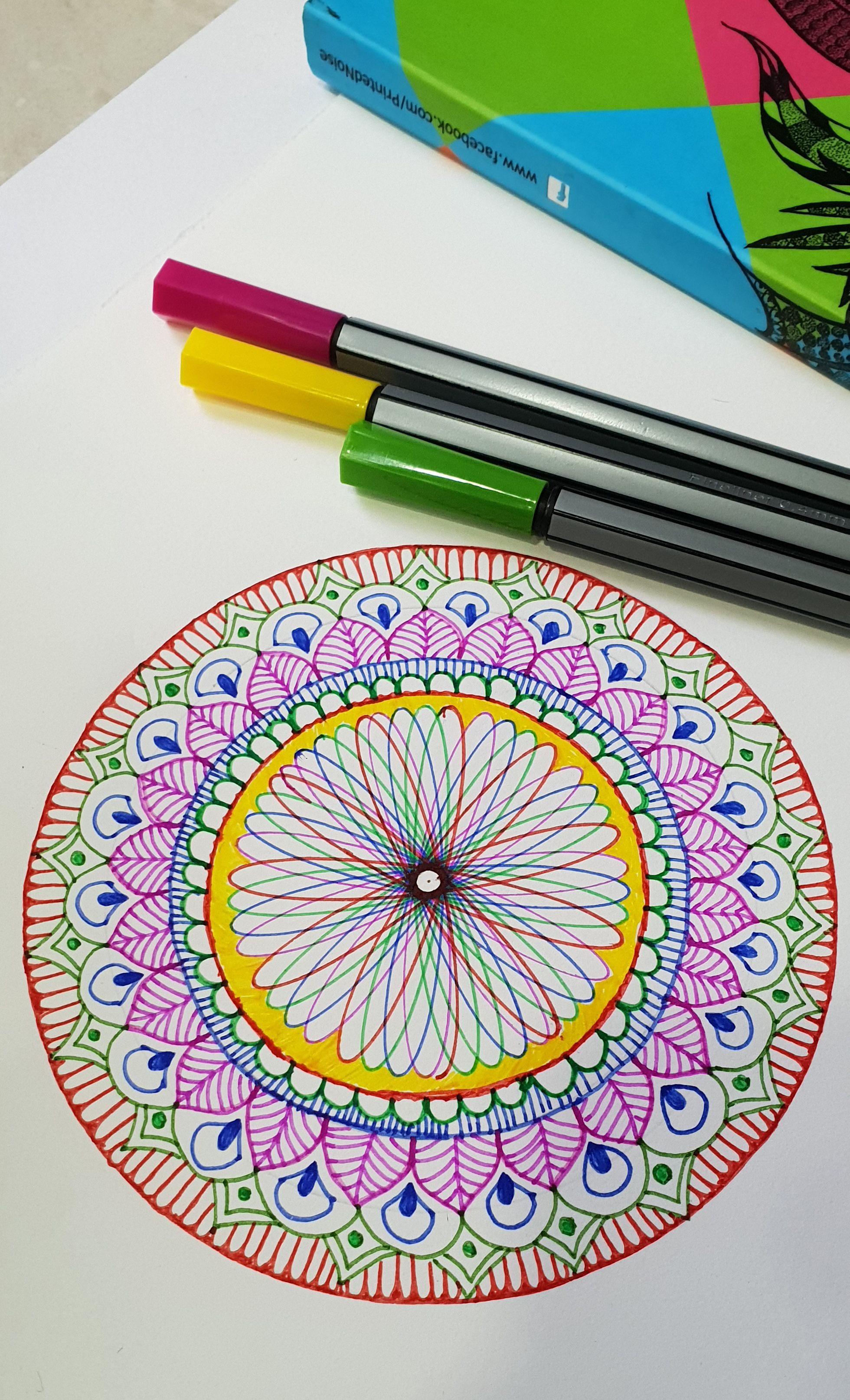 Spirograph And Mandala Design Spirography Mandalaart