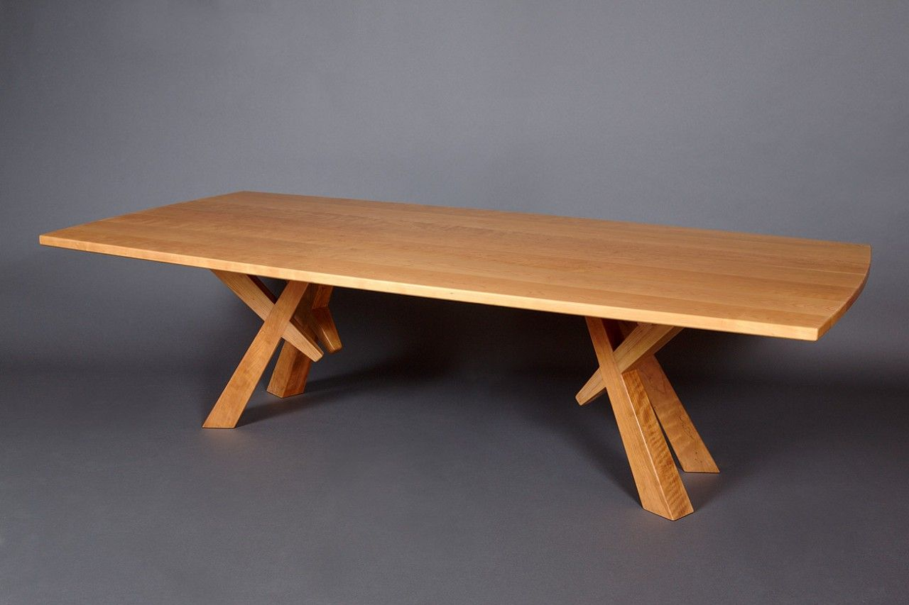 Solid Cherry Wood Dining Table Custom Sized And Hand Crafted By Seth  Rolland Furniture Design