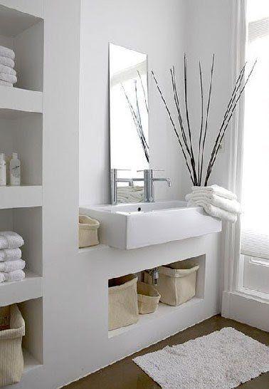 Plan vasque à faire soi-même en béton, bois, carrelage - repeindre du carrelage de salle de bain