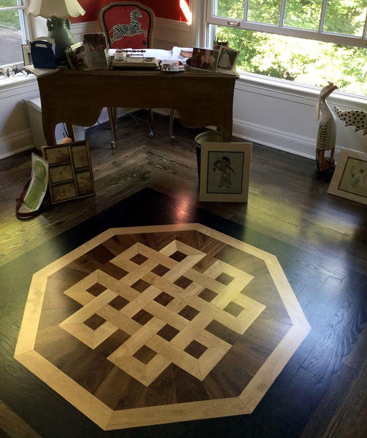 Celtic Knot Wood Flooring Medallion