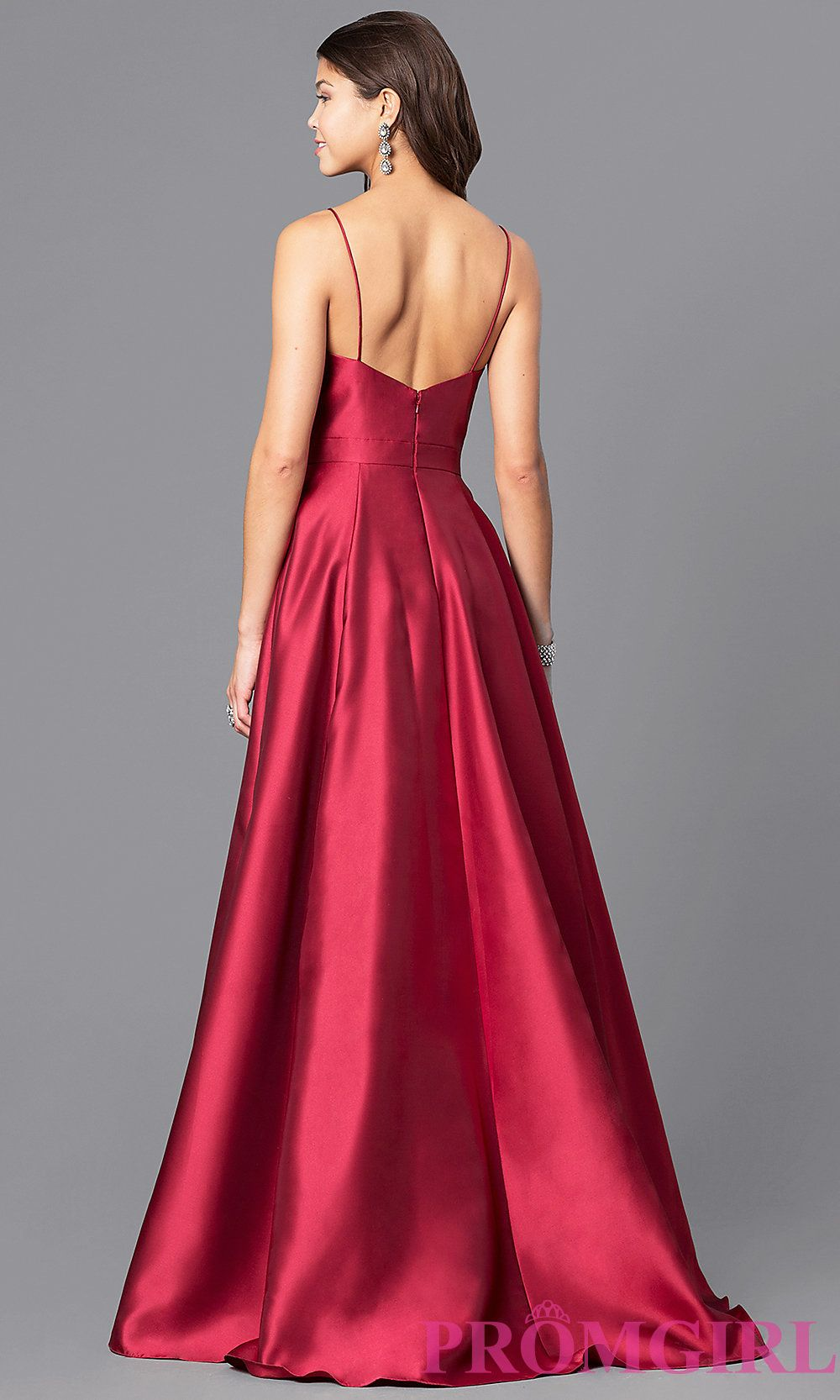 Image of long wine red JVN by Jovani prom dress. Style: JO-JVN ...
