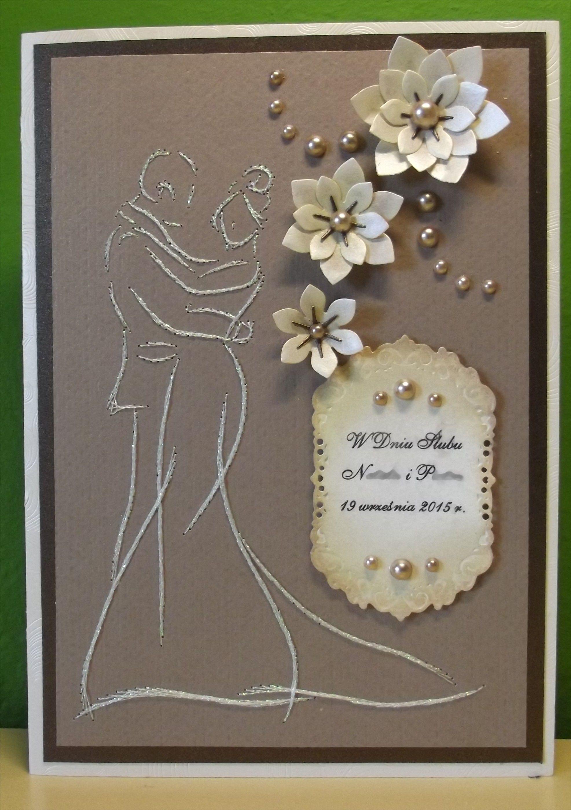 Pin von Anna Kułaga auf Wedding, ślub - Stiching cards, haft ...
