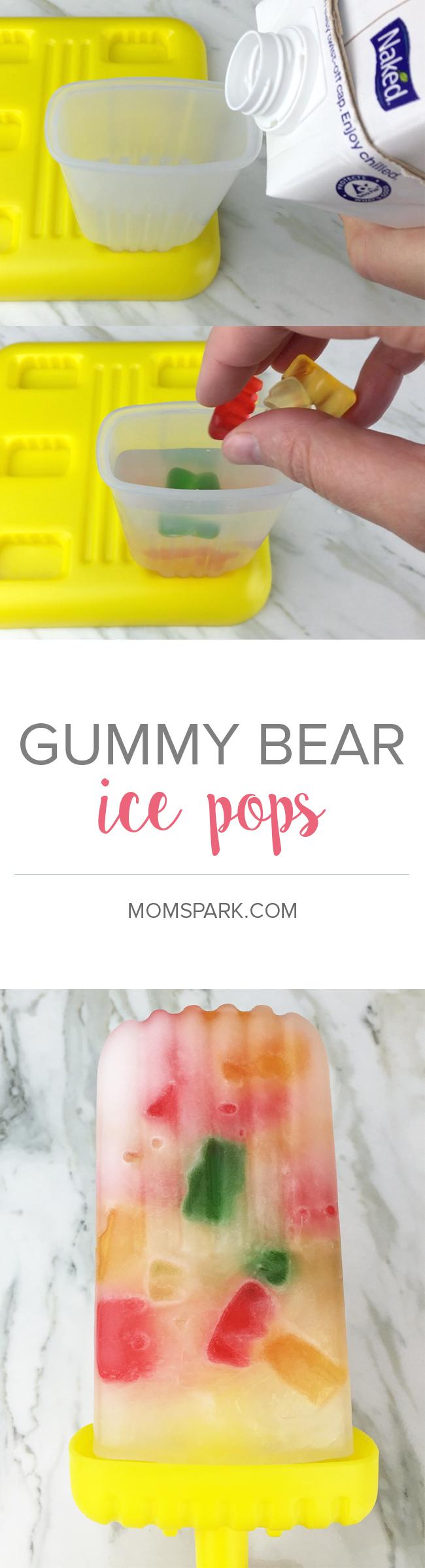 Gummy bear ice pops - so easy to make!