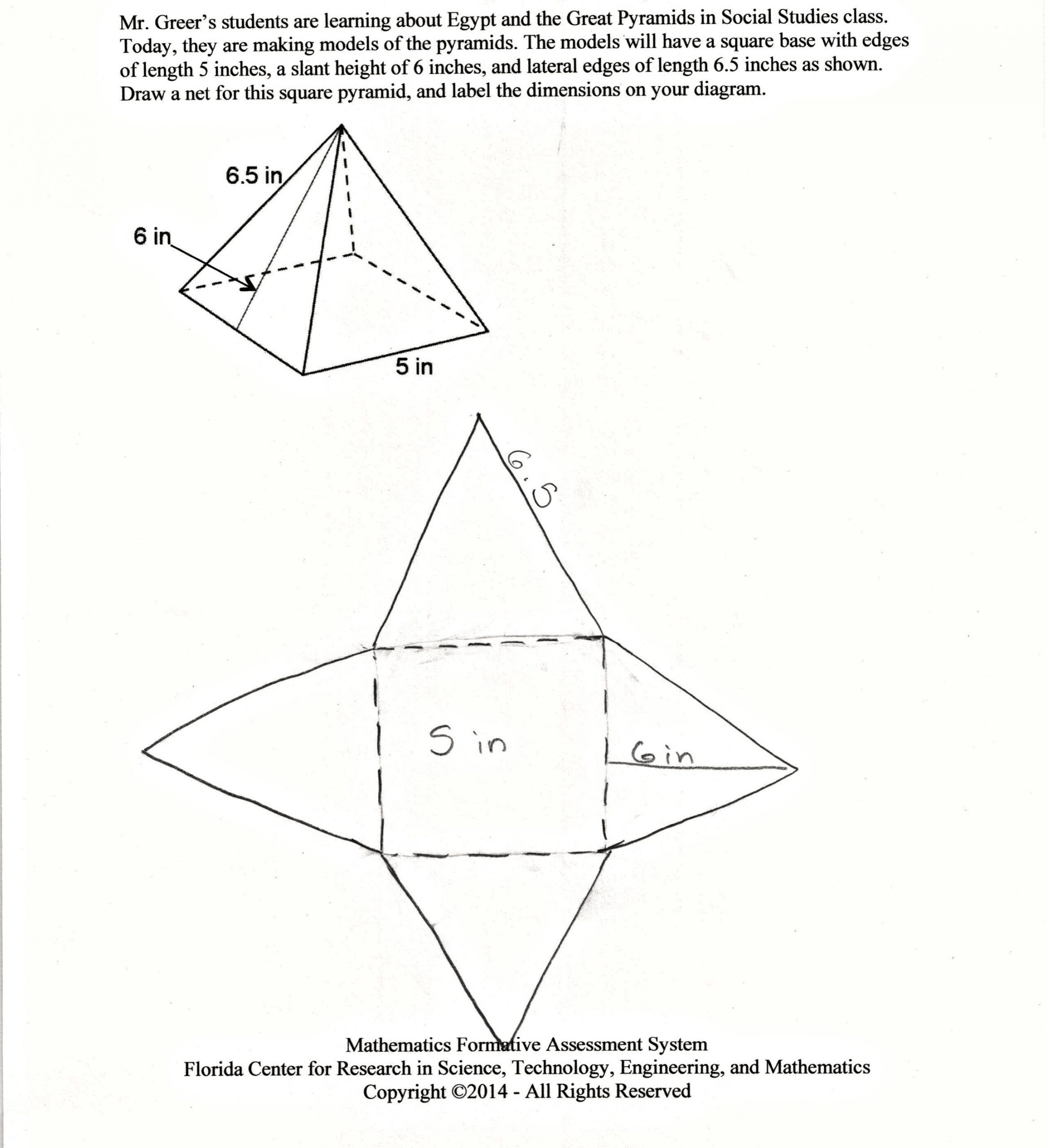Volume Of Pyramid Worksheet