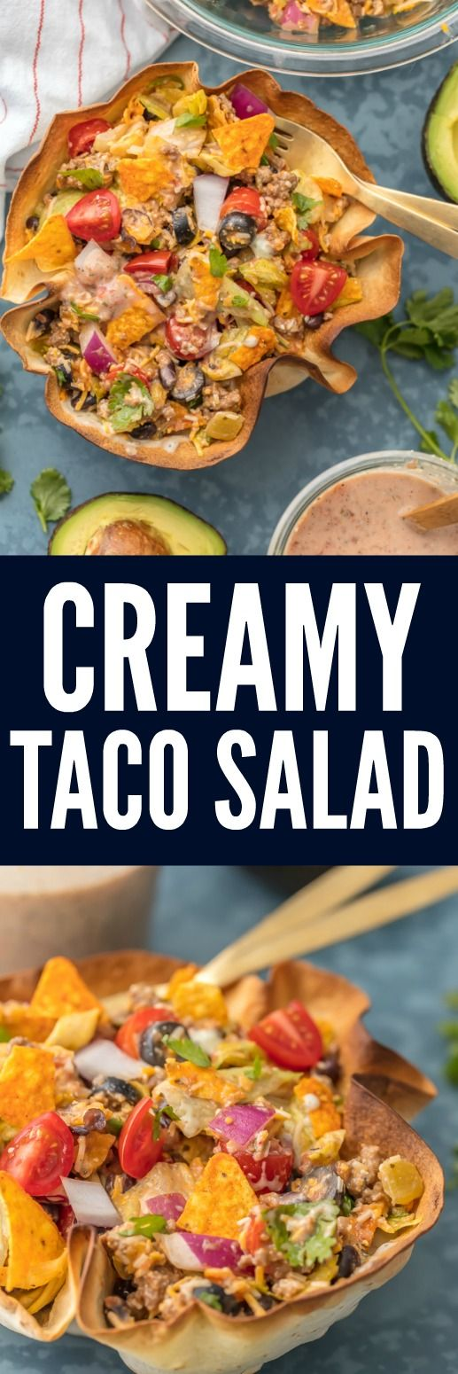 Creamy Taco Salad | The Recipe Critic