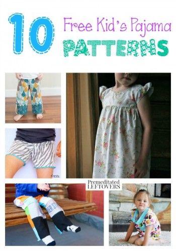 10 kostenlose Kinder Schlafanzüge und Nachthemden - kids pajama ...