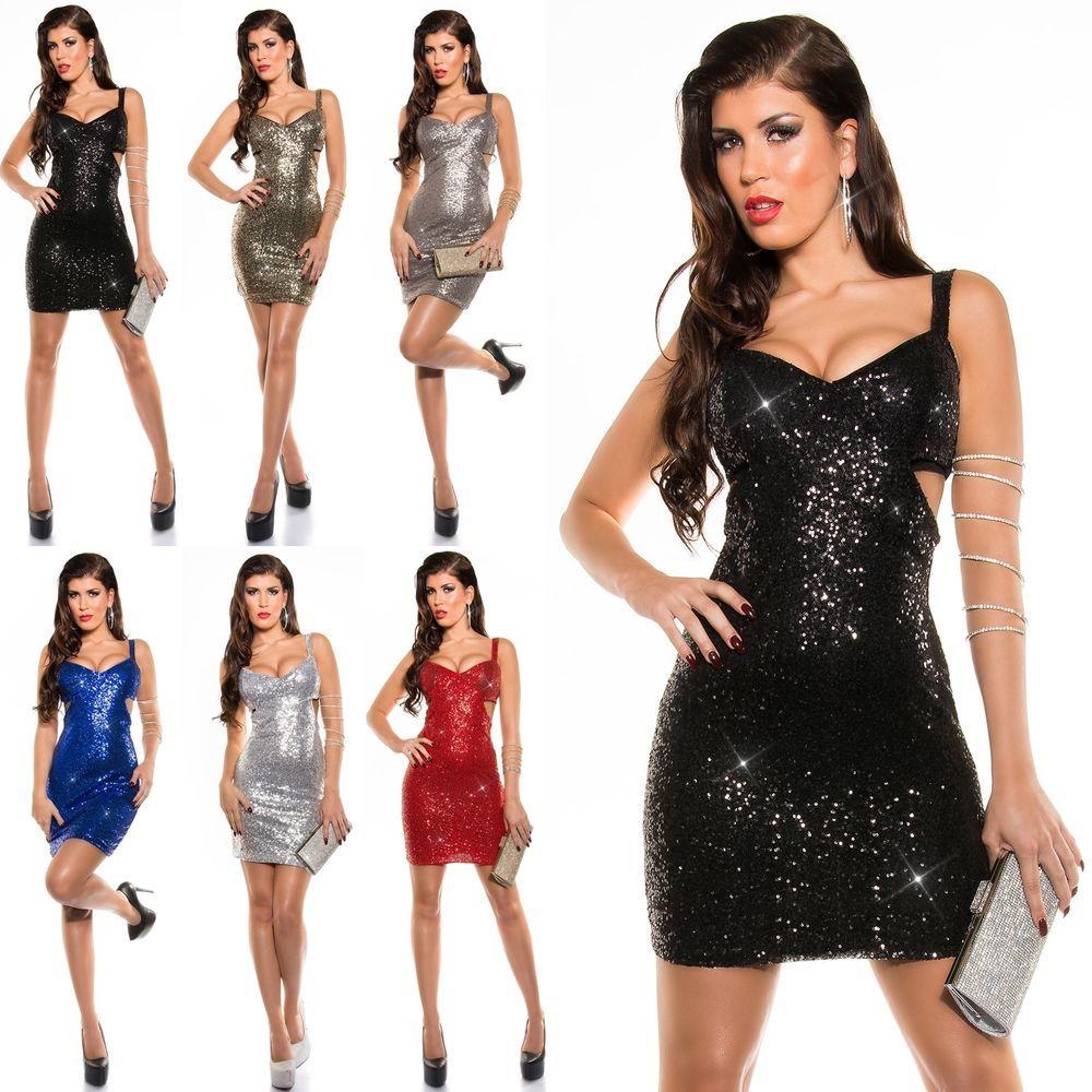 Details zu Paillettenkleid Silvester Gala Cocktailkleid Abendkleid ...