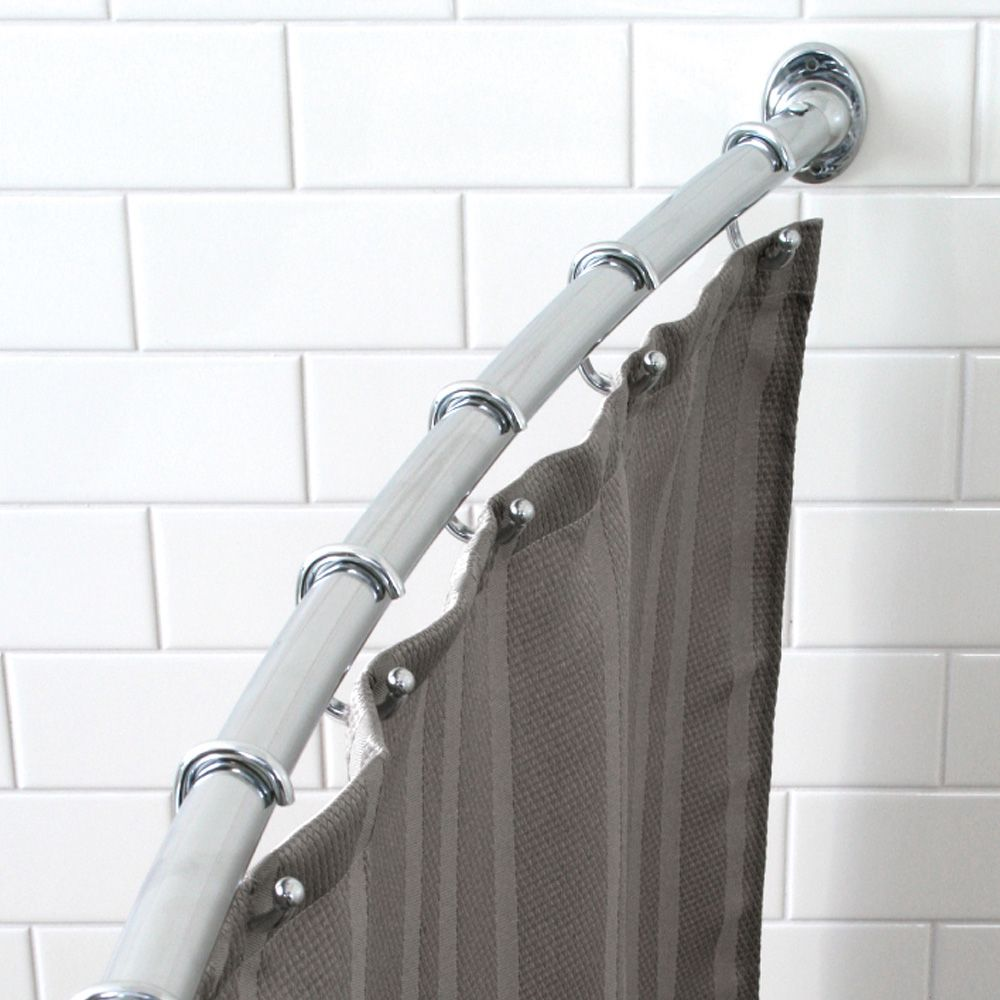 Curved Shower Curtain Rod Black Shower Curtains Shower Curtain