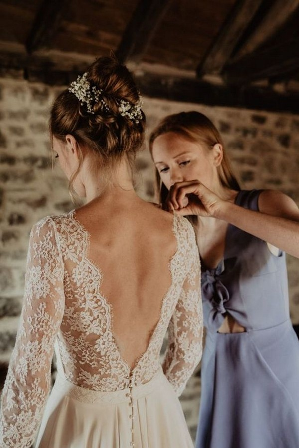 15 Stunning Wedding Dresses with Sleeves for Fall/Winter 2020