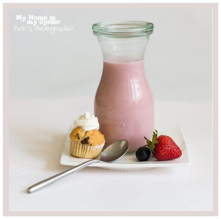 Erdbeer - Himbeer Smoothie