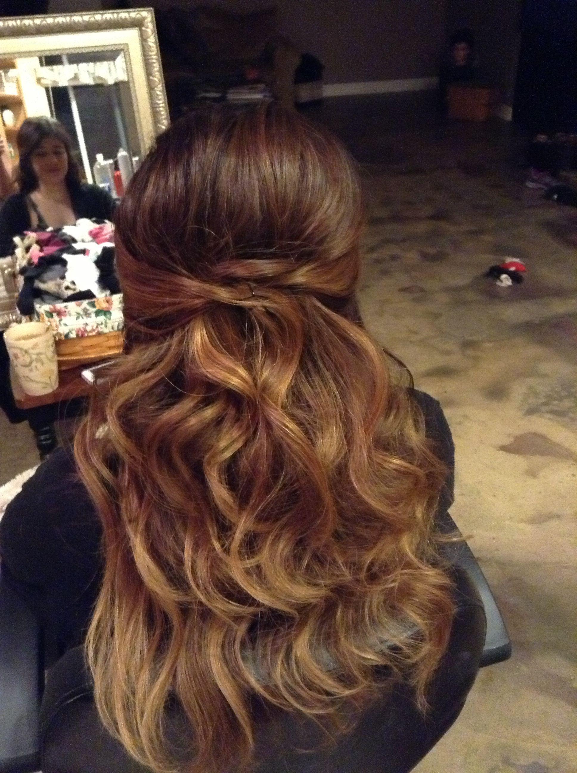 Half up half down hair by kaylin laporte hair and beauty