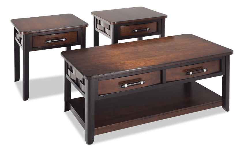 Dream Weaver Cherry Espresso Coffee Table Set With Images