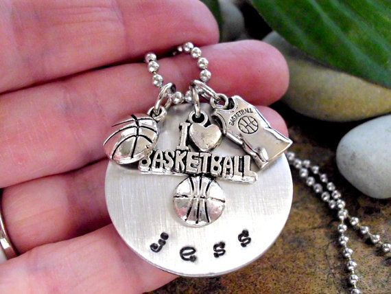 SALE NOW Basketball Necklace Basketball Jewelry by CharmAccents