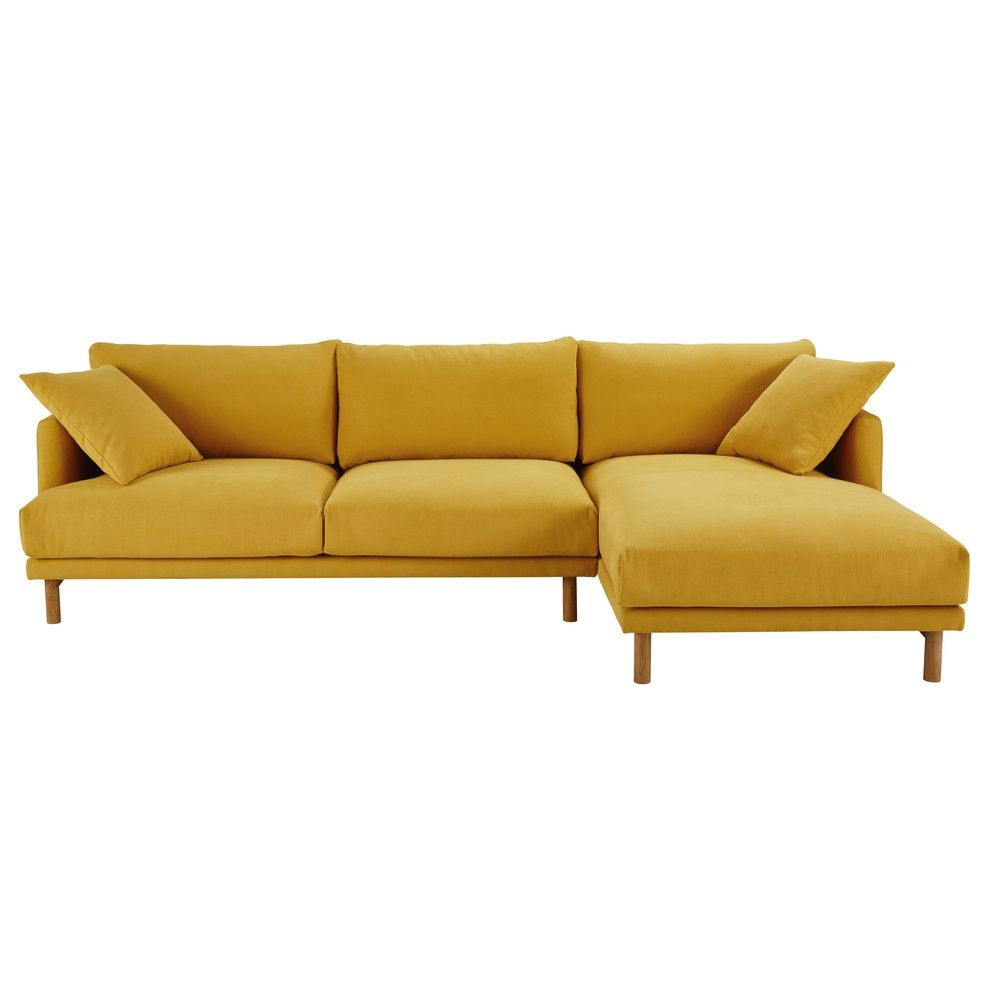 Außergewöhnlich Sofa Ecke Referenz Von 5-sitzer-ecksofa, Rechts, Bezug Aus Baumwolle Und Leinen,