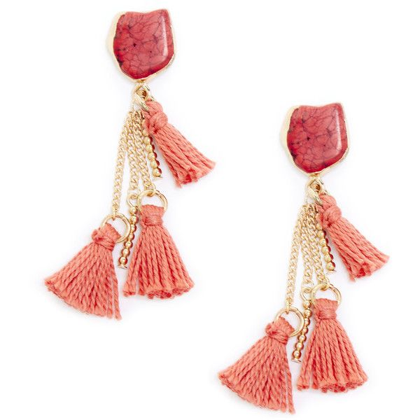 Sole Society Womens Long Tassel Drop Earrings Fuschia One Size From Sole Society IXV2N
