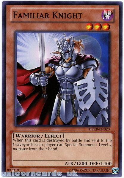 DPKB-EN020 Familiar Knight UNL Edition Mint YuGiOh Card
