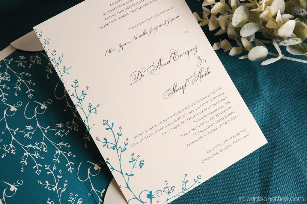 Arnel Sheryl Wedding Invitation Custom Invitations By Printsonalities Your Personal Stylist