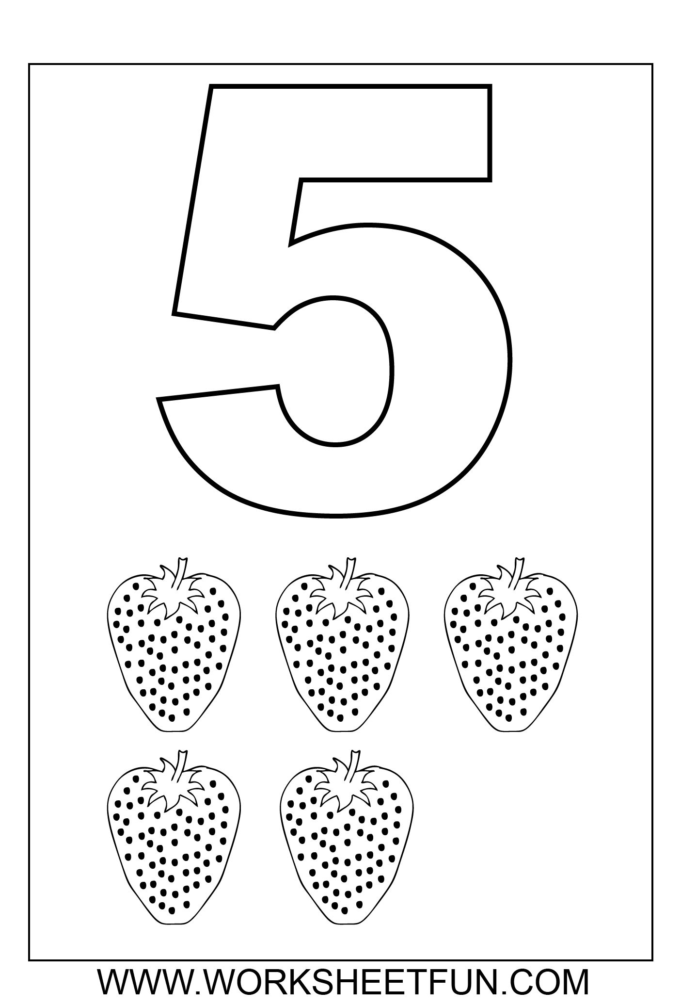 Free coloring pages numbers 1-10