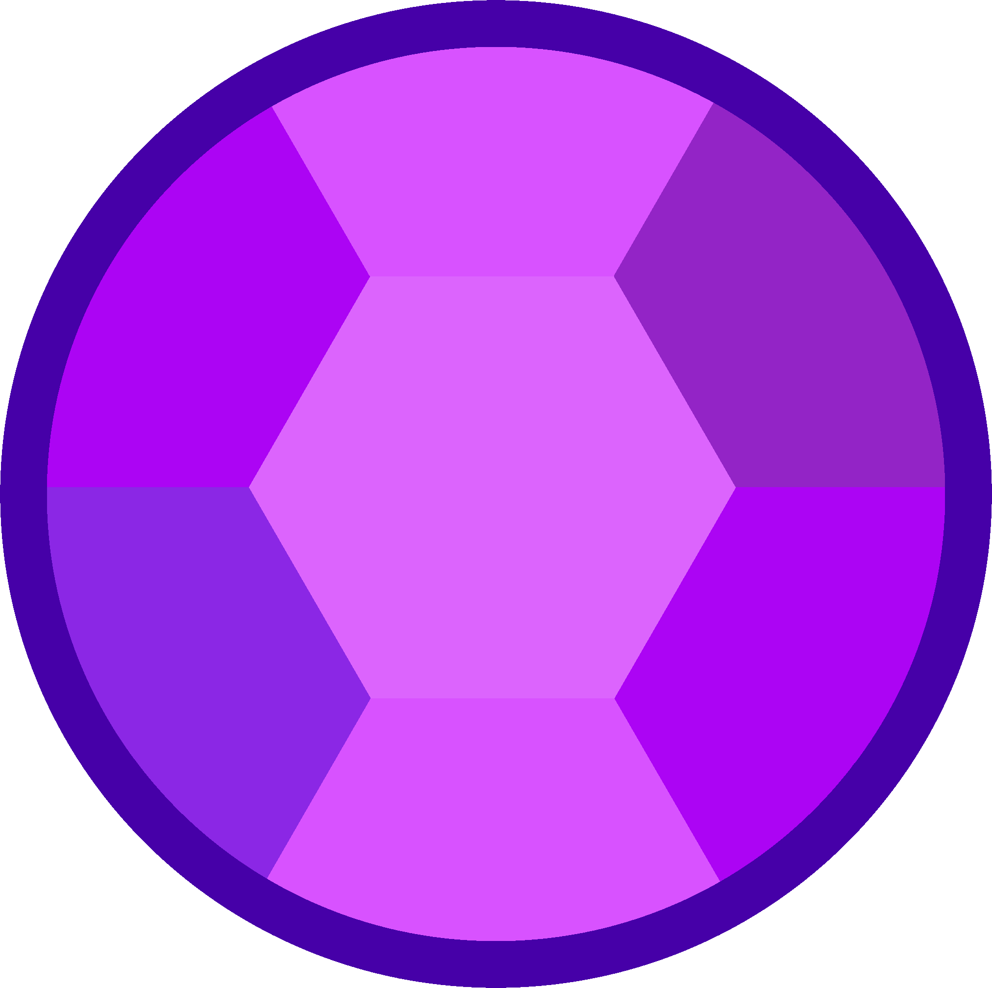 Steven Universe Rose Quartz Symbol: Amethyst Gem Template (minus Modifications For 3D