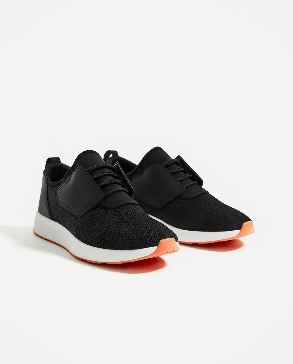Black · LIGHTWEIGHT BLACK SNEAKERS-ZARA