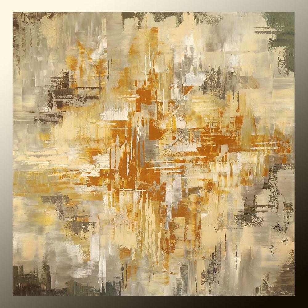 GICLEE painting of ORIGINAL abstract art Tatiana beige grey earth ...
