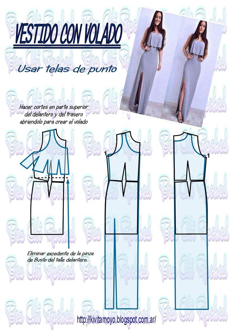 Kivita moyo como trazar un vestido con sobre volado usar tela