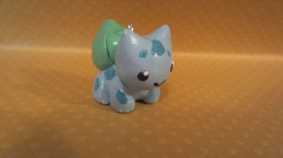 Cute Handmade Chibi Bulbasaur Charm by WonkyWeaselCreations, $7.00