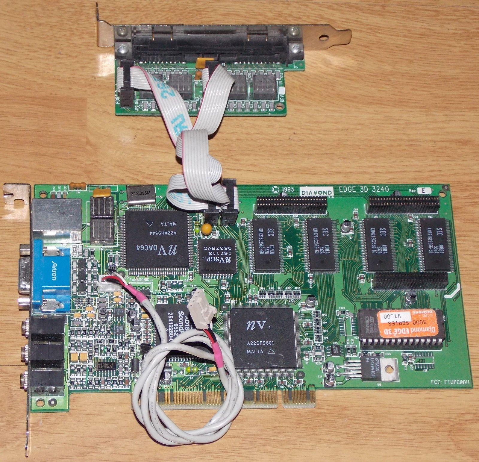 diamond edge 3d 3240 video card multimedia 3000 series 1995 nv1 diamond edge 3d 3240 video card multimedia 3000 series 1995 nv1 sega pc