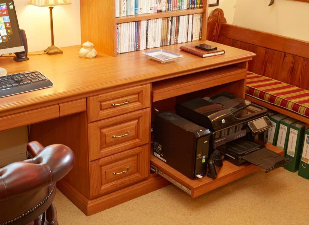 A Slide Out Tray For Your Printer Can Save You Valuable Desk Space