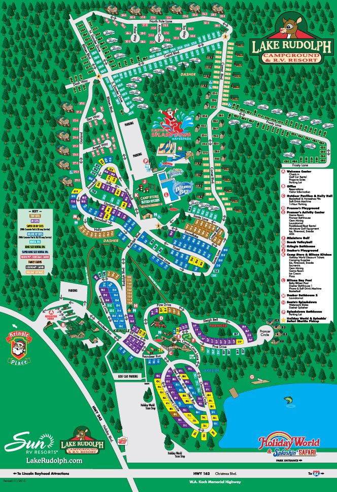 Campground Map Lake Rudolph Campground Rv Resort Lake Rudolph Holiday World Rv Parks And Campgrounds