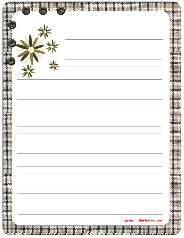 Modest image with free printable stationery templates