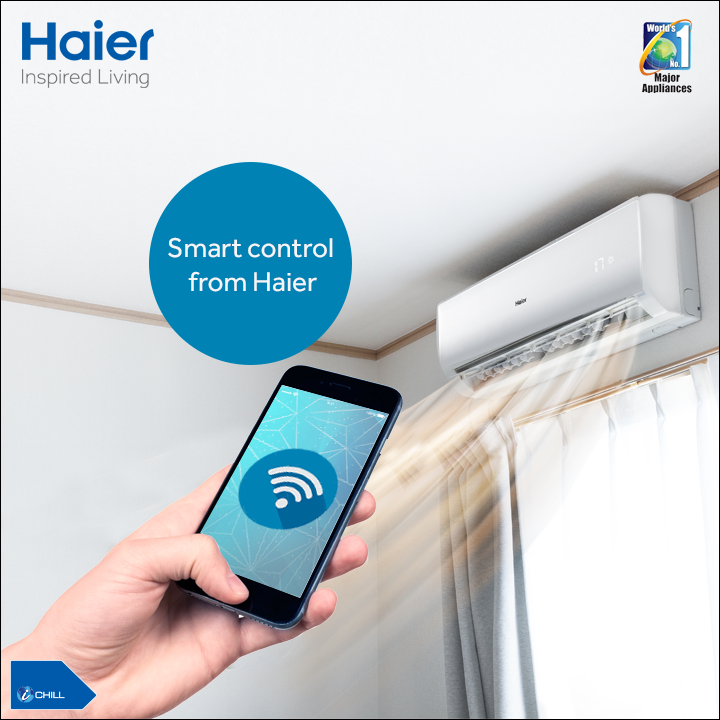 Haier's #AirConditioner with WiFi lets you control it with