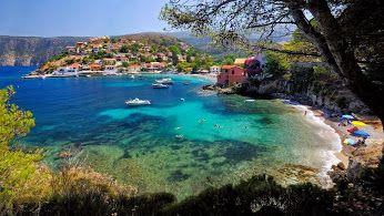 Assos, a restful village on the west coast of Kefalonia, a beautiful Greek island